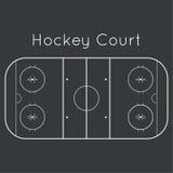 Lodowego hokeja lodowisko ilustracja wektor