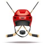 Lodowego hokeja symbol cztery elementy projektu tła snowfiake białego Zdjęcia Stock