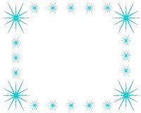 Lodowego kryształu rama na białym tle z kopii przestrzenią ilustracji