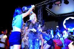 Lodowego wiadra wyzwanie - noc klubu przyjęcie Obraz Royalty Free