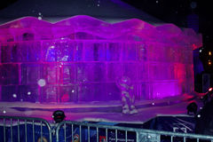 Lodowej rzeźby cyrk na Vernadsky Prospekt Obrazy Royalty Free