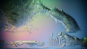Lodowej tekstury makro- błękitny łamający zimno fotografia royalty free