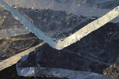 Lodowi floes w Lule rzece Fotografia Stock