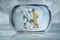 Lodowi gracz w hokeja fotografia royalty free