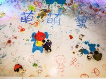 Lodowi graffiti na dziecka ` s dniu Fotografia Royalty Free