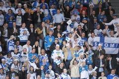 Lodowi hokejowi fan Zdjęcia Royalty Free