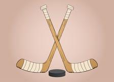 Lodowi hokejowi kije Zdjęcia Stock