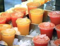Lodowi soków Smoothies Obrazy Royalty Free