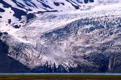 Lodowiec blisko Hvitarnes budy, Iceland zdjęcie royalty free