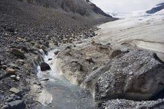 lodowiec gór skalistych ogrzać globalne temperatury topnienia Obraz Stock