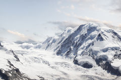 Lodowiec. Góry Krajobrazowa panorama. Szwajcaria Zdjęcia Royalty Free