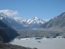 Lodowiec & góry w Nowa Zelandia Obraz Royalty Free