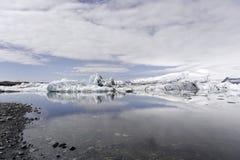 Lodowiec jezioro Iceland - Iceland Jokulsarlon laguna - Zdjęcie Stock