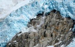 Lodowiec krajobrazowa halna góra lodowa Zdjęcie Stock