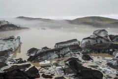 Lodowiec laguna blisko Skaftafell Fotografia Royalty Free