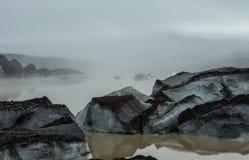 Lodowiec laguna blisko Skaftafell Fotografia Stock