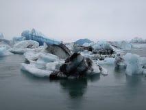 Lodowiec laguna, Jokulsarlon, Iceland Zdjęcia Royalty Free