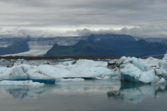 Lodowiec laguna, Jokulsarlon, Iceland Fotografia Royalty Free