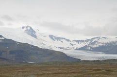 Lodowiec na górach Iceland Zdjęcia Stock