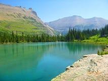 Lodowiec Parkowy jezioro zdjęcie stock