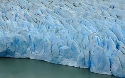 Lodowiec Popielata twarz, Torres Del Paine park narodowy Zdjęcia Stock
