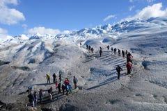 Lodowiec Trekking w Patagonia Zdjęcie Stock