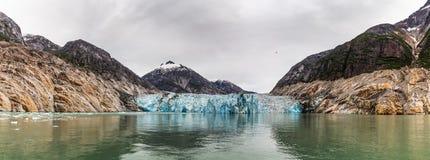 Lodowiec w jeden fjords w Alaska obrazy stock