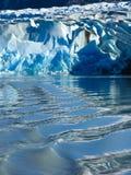 Lodowiec w Lago Popielatym w Torres Del Paine Fotografia Royalty Free