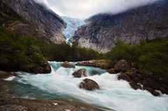 Lodowiec w Norwegia Zdjęcia Royalty Free