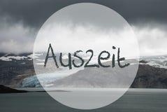 Lodowiec W Norwegia, jezioro, Auszeit sposobów przestój zdjęcia royalty free
