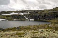 Lodowiec w obszarach trawiastych południowy Norwegia Fotografia Royalty Free