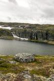 Lodowiec w obszarach trawiastych południowy Norwegia Zdjęcia Royalty Free