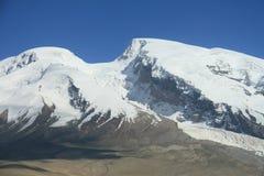 Lodowowie na szczycie góra Muztag Ata Obraz Royalty Free
