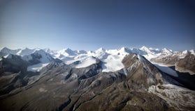 Lodowowie w górach obraz stock