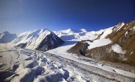 Lodowowie w górach zdjęcia stock