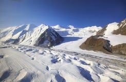 Lodowowie w górach zdjęcia royalty free