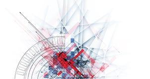 Lodowy abstrakcjonistyczny technologii tło z linii teksturą dla Zdjęcia Royalty Free