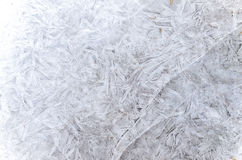 Lodowy abstrakta wzór w zimie Zdjęcie Stock