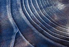Lodowy deseniowy tło na powierzchni staw lub rzeka Obrazy Royalty Free