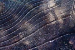 Lodowy deseniowy tło na powierzchni staw lub rzeka Zdjęcia Stock