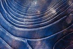 Lodowy deseniowy tło na powierzchni staw lub rzeka Obraz Stock