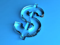 Lodowy Dolarowy znak royalty ilustracja