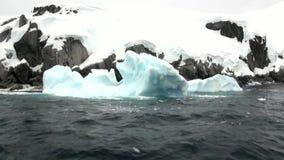 Lodowy floe w oceanie Antarctica zdjęcie wideo