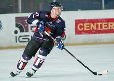 Lodowy gracz w hokeja Zdjęcia Royalty Free
