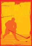 Lodowy gracz w hokeja Obrazy Royalty Free