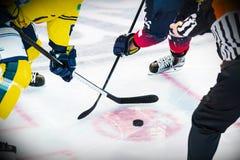 Lodowy gracz w hokeja na lodzie Zdjęcia Royalty Free