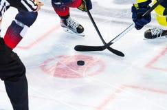 Lodowy gracz w hokeja na lodzie Zdjęcie Stock