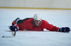 Lodowy gracz w hokeja w akci Fotografia Royalty Free