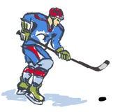 lodowy hokeja sportowiec Zdjęcie Royalty Free