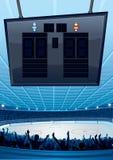 Lodowy Hokejowy Tło Obraz Stock